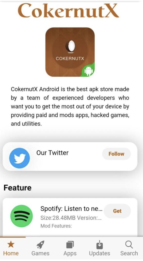 CokernutX APK on Android
